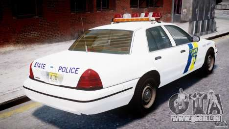 Ford Crown Victoria New Jersey State Police für GTA 4-Motor