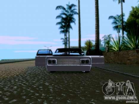 Slamvan Tuned für GTA San Andreas Innenansicht
