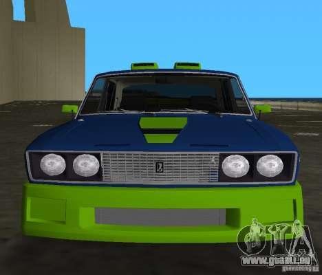 VAZ 2106 Tuning v3.0 pour une vue GTA Vice City de la gauche