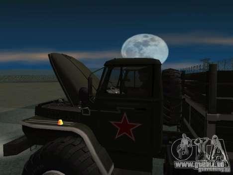 Ural 43206 Parade für GTA San Andreas rechten Ansicht