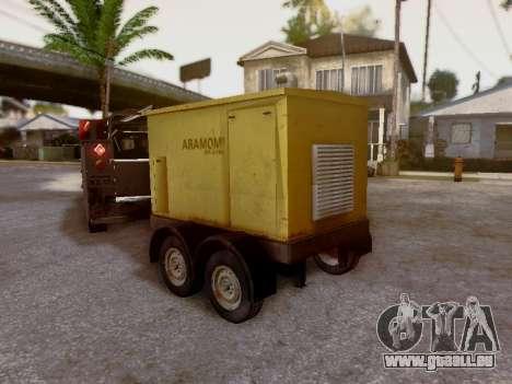 Trailer Generator pour GTA San Andreas vue intérieure