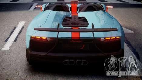 Lamborghini Aventador J 2012 Gulf für GTA 4 hinten links Ansicht