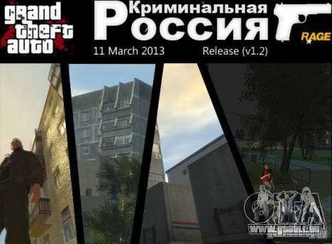 Kriminelle Russland RAGE v1. 2 für GTA 4