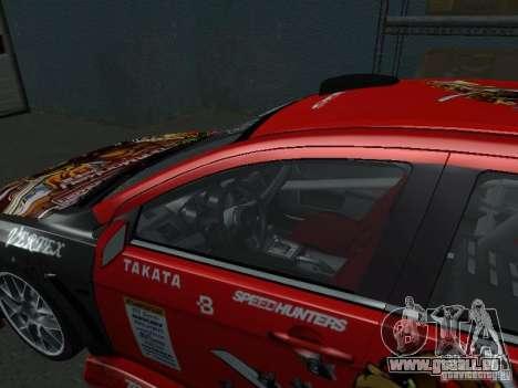 Mitsubishi Evolution X Stock-Tunable pour GTA San Andreas vue de côté