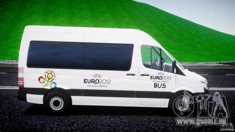 Mercedes-Benz Sprinter Euro 2012 pour GTA 4 est une vue de l'intérieur