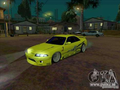 Nissan Skyline GT-R R33 from FnF 1 pour GTA San Andreas