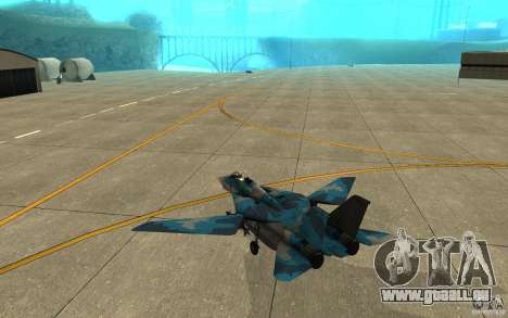 F-14 Tomcat Blue Camo Skin pour GTA San Andreas vue de droite