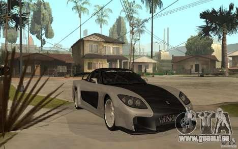 Mazda RX 7 VeilSide Fortune v.2.0 für GTA San Andreas Rückansicht