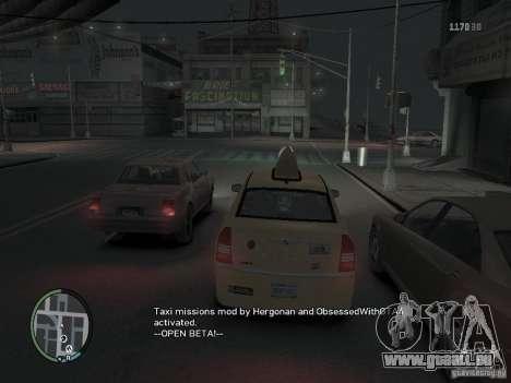 La Mission du chauffeur de taxi pour GTA 4 pour GTA 4