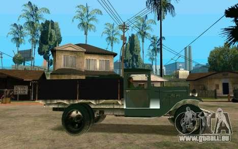 GAZ-AA für GTA San Andreas linke Ansicht