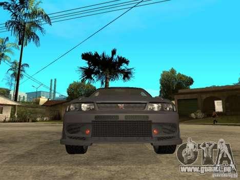 Nissan Skyline R33 Tokyo Drift pour GTA San Andreas vue de droite