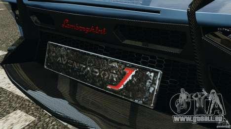 Lamborghini Aventador J 2012 pour GTA 4 roues
