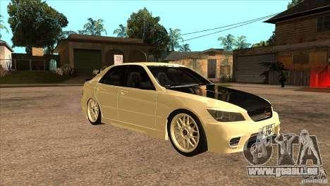 Toyota Altezza RS200 JDM Style pour GTA San Andreas vue arrière