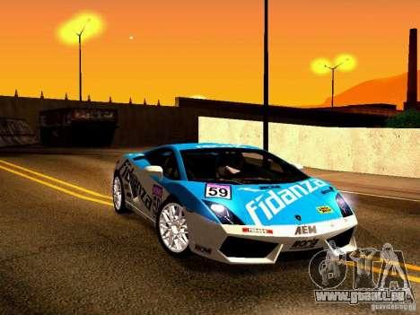Lamborghini Gallardo LP560-4 für GTA San Andreas Unteransicht