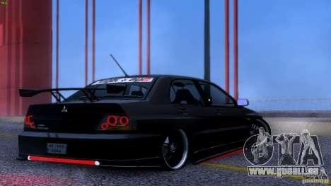Mitsubishi Lancer Evolution 8 Drift pour GTA San Andreas vue intérieure