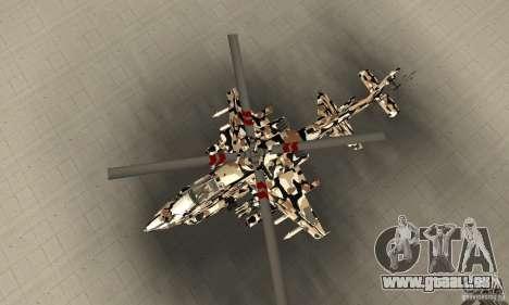 Hydra Hunter pour GTA San Andreas vue de droite