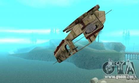 République Gunship de Star Wars pour GTA San Andreas vue intérieure