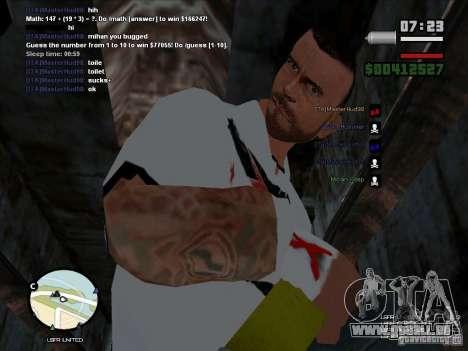 CM PUNK 2011 attaer pour GTA San Andreas deuxième écran
