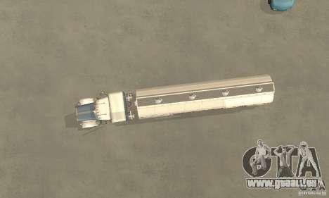 Peterbilt 379 Custom And Tanker Trailer pour GTA San Andreas vue arrière