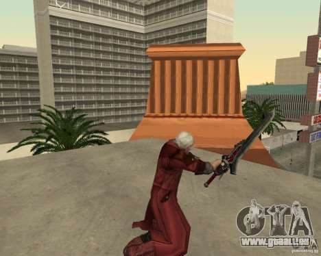 Nero sword from Devil May Cry 4 für GTA San Andreas her Screenshot