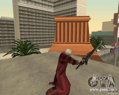 Nero sword from Devil May Cry 4 pour GTA San Andreas quatrième écran