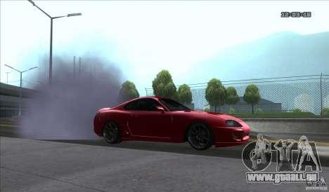 Toyota Supra Stance pour GTA San Andreas sur la vue arrière gauche