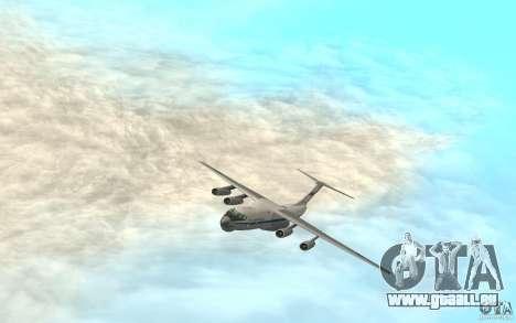 L'IL-76 pour GTA San Andreas sur la vue arrière gauche
