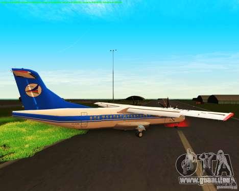 ATR 72-500 Azerbaijan Airlines für GTA San Andreas zurück linke Ansicht