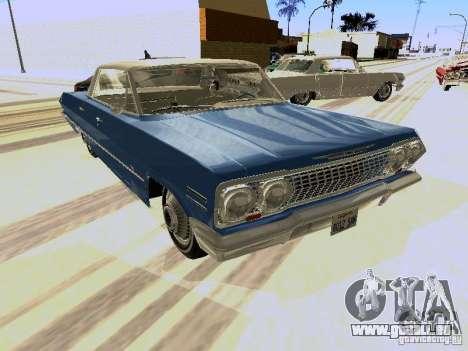 Chevrolet Impala 4 Door Hardtop 1963 pour GTA San Andreas laissé vue