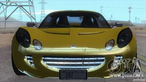 Lotus Elise für GTA San Andreas zurück linke Ansicht