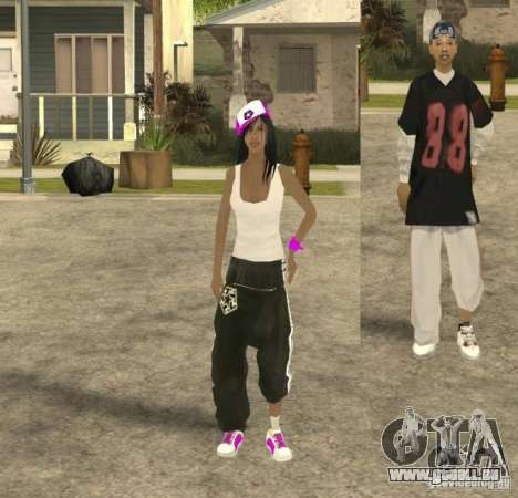 Skinpack Ballas für GTA San Andreas fünften Screenshot