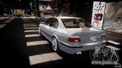 BMW M5 E39 Stock 2003 v3.0 pour GTA 4 Vue arrière de la gauche