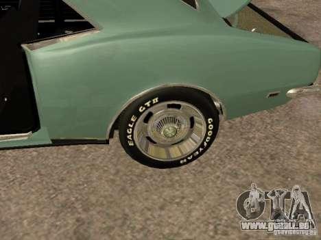 Chevrolet Camaro RS SS 396 pour GTA San Andreas vue intérieure