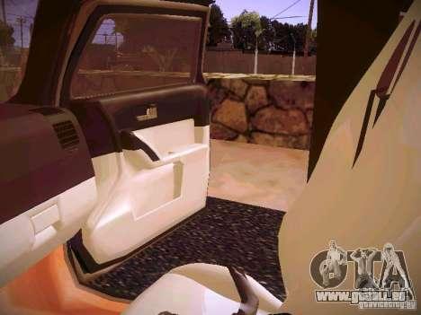Hummer H3R pour GTA San Andreas vue de côté