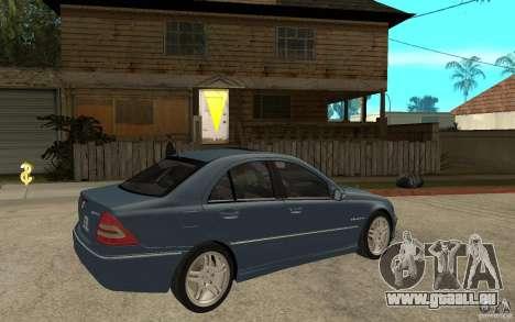Mercedes-Benz C32 AMG 2003 für GTA San Andreas rechten Ansicht