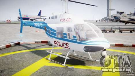 Bell 206 B - Chicago Police Helicopter pour GTA 4 Vue arrière