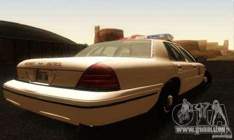 Ford Crown Victoria Utah Police pour GTA San Andreas laissé vue