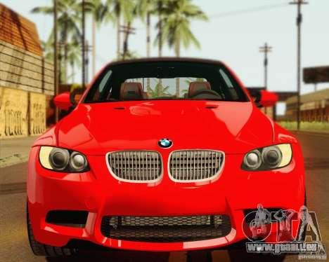 BMW M3 E92 v2.0 pour GTA San Andreas vue intérieure