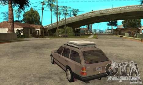 Mercedes-Benz 200TE 1985 für GTA San Andreas zurück linke Ansicht