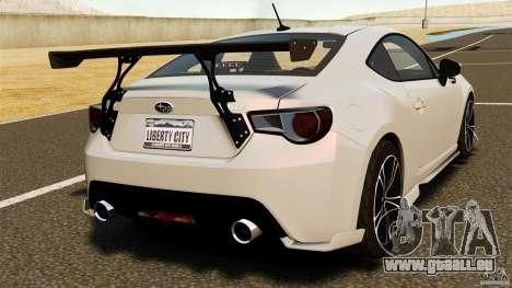 Subaru BRZ Rocket Bunny Aero Kit pour GTA 4 Vue arrière de la gauche