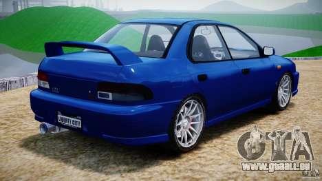Subaru Impreza WRX STI 1999 v1.0 pour GTA 4 Vue arrière de la gauche