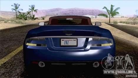 Aston Martin DBS Volante 2009 für GTA San Andreas Rückansicht