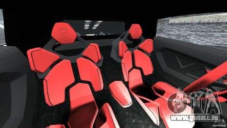 Lamborghini Sesto Elemento 2011 Police v1.0 ELS pour GTA 4 est une vue de l'intérieur