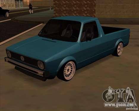 Volkswagen Caddy Custom 1980 für GTA San Andreas zurück linke Ansicht
