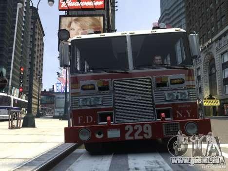 Fire Truck FDNY für GTA 4 linke Ansicht