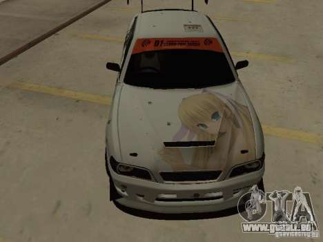 Toyota Chaser JZX100 Tuning by TCW pour GTA San Andreas vue intérieure