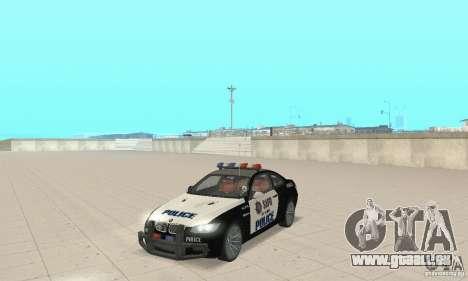 BMW M3 E92 Police pour GTA San Andreas