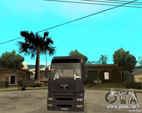 Man TGA pour GTA San Andreas vue arrière