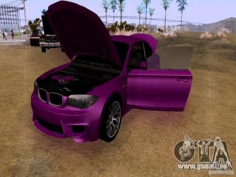 BMW 1M  2011 für GTA San Andreas Innenansicht