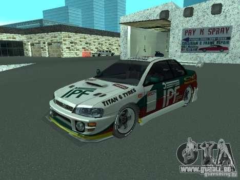 Subaru Impreza für GTA San Andreas Innen